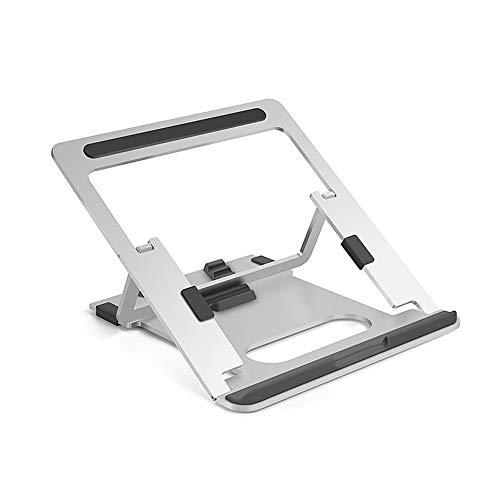 Fesjoy Stand, Laptop Stand Aluminum Alloy Heat Dissipation Bracket Foldable 5-Level Adjustable Laptop Stand Laptop Holder Silver