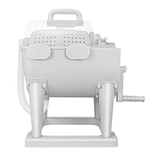 TTLIFE Lavadora manual Deshidratador de tambor Lavadora ecológica de ciclo de lavado doble de manivela 5KG Secador giratorio Especialmente utilizado para lavar ropa interior para bebés