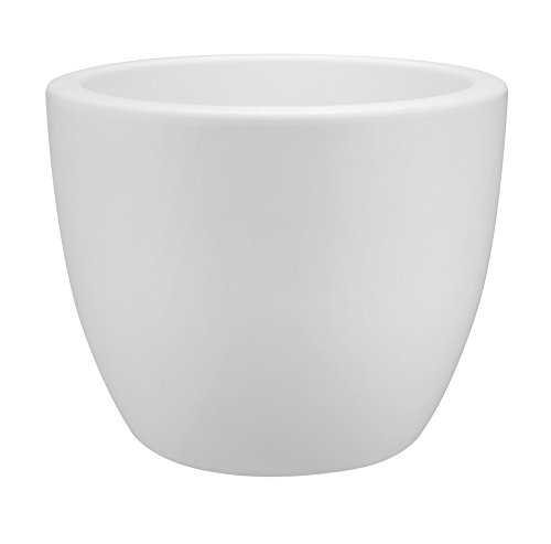 Elho Pure Soft Round 30 Bloempot, wit, binnen en buiten bloempot 60 cm wit