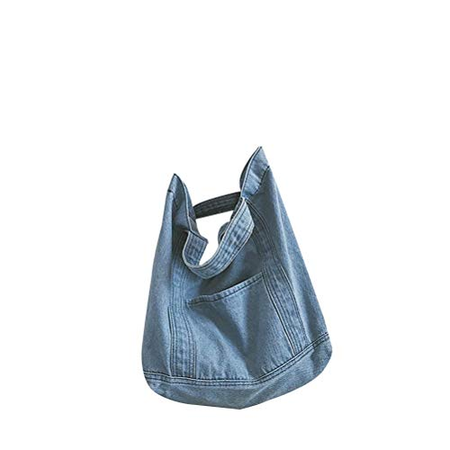 Handtasche aus Jeansstoff Retro-Umhängetasche Mode Umhängetasche mit großer Kapazität