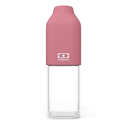 monbento - MB Positive Trinkflasche bpa frei - Tritan Trinkflasche (M (500ml), Blush)
