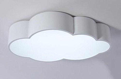 Nuages de couleurs Chambre à coucher pour enfants Chambre à LED Plafonnier Moderne Atmosphère simple Lumières d'individualité créative ( Couleur : Blanc-24w60cm-Blanc )