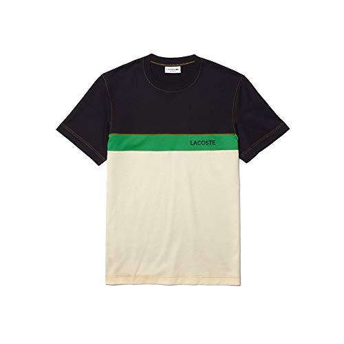 Lacoste TH0166 Camiseta, Abimes/Naturel Clair-Cerf, S para Hombre