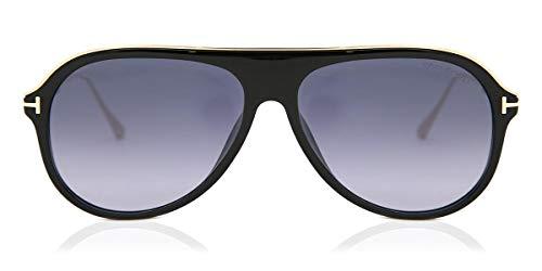 Tom Ford FT0624 01C Shiny Black Nicholai Pilot Sunglasses Lens Category 3 Size