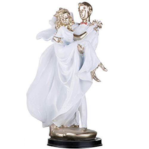 Ybzx Estado de la Boda para la Figura de Pareja, esculturas de Arte romántico decoración del hogar Moderna, Adorno de Boda de Aniversario, decoración de Oficina en casa, B