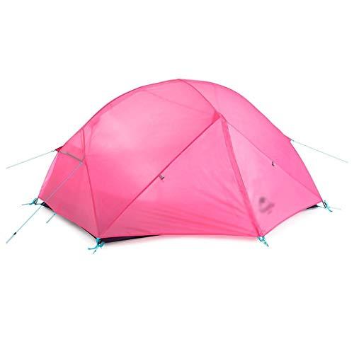 SSG Home Utilisation Multiple Sports de Plein air Tente Camping Épaississement extérieure Double crème Solaire Anti-Pluie Poteau en Aluminium Tente Pliante Coupe-Vent Respirant Équipement d'extérieur
