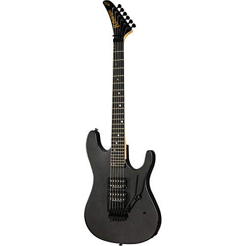Kramer Guitars Icon Collection NightSwan Jet - Guitarra eléctrica, color negro metálico