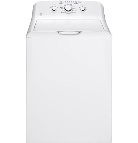 GE GTW330ASKWW Top Loading Washer with Stainless Steel Basket, 3.8 Cu. Ft. Capacity, 11 Cycles, White,