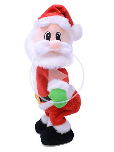 Auerllcy Twerking Santa Claus - Twisted Hip, Singing and Dancing - Funny Electric Plush Toy for Kids & Women. (English Song)