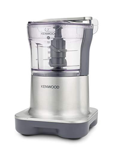 Kenwood Mini-hachoir CH250, Sysème à 4 lames, Bol de 0.5L, 500 W, Inox Brossé
