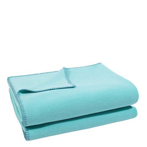 Soft-Fleece-Decke – Polarfleece-Decke mit Häkelstich – flauschige Kuscheldecke – 110x150 cm – 730 opal – von 'zoeppritz since 1828'