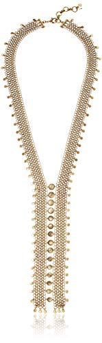 Lucky Brand Women's Gold Layered Champagne Strand Chain Statement Necklace, One Size