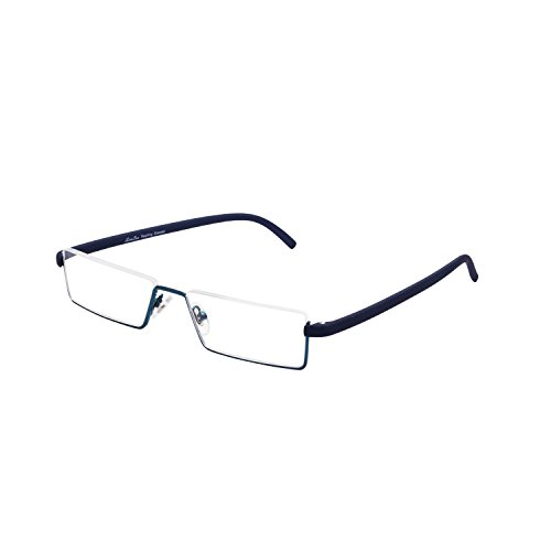 LianSan Brand Metal Frame Half-Rim Style Reading Glasses Readers with case L3801(Blue,+2.50) by LianSan