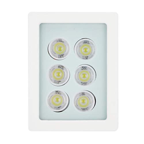 Luz de Relleno de cámara DC12V, Sensor automático, 6 LED, 6W, IP66, aleación de Aluminio, luz de Relleno Blanca, con Carcasa y Soporte Blancos, para cámara de vigilancia de Seguridad