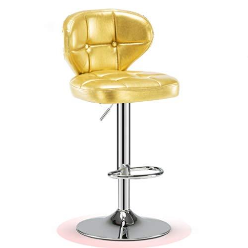 Glpopm hefhoogte hoge kruk, design met verhoogde rugleuning, barkruk, barkruk, barkruk voor buiten, statafel en stoelen, draaibaar, in hoogte verstelbaar
