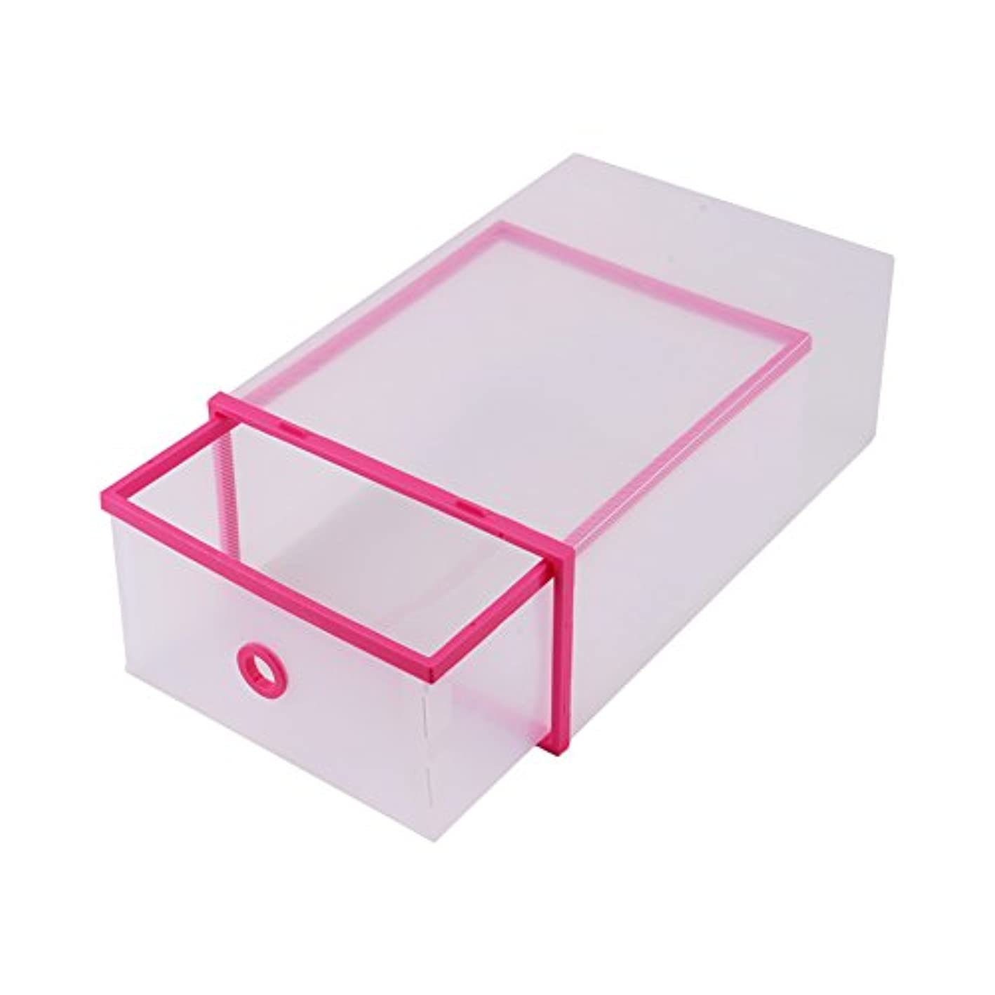 Cocoarm Shoe Storage Boxes, Multifunctional Plastic Shoe Storage Organizers, Large Transparent Closet Organizer for Shoe Drawers Home Storage, 5-Pack (Pink)
