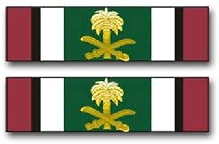 Military Vet Shop US Army Kuwait Liberation Medal (Saudi Arabia) Ribbon Vinyl Transfer Window Bumper Sticker Decal 3.8
