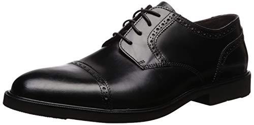 Florsheim Men's Clevan Cap Toe Oxford, Black, 10 Medium US