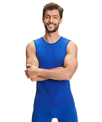 FALKE Herren Warm Tight Fit M SI Baselayer-Shirt, Blau (Yve 6714), M