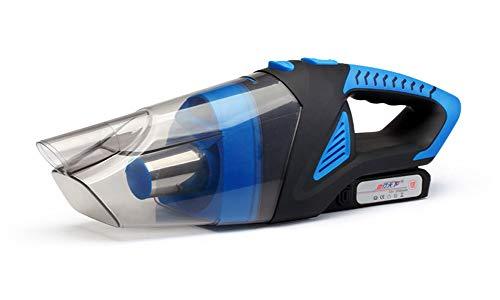 Aspirateur À Main sans Fil Rechargeable, Aspirateur Portable 12V 120W 3500PA Haute Puissance, Humide Et Sec,Bleu