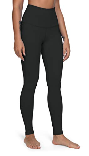 QUEENIEKE Women Yoga Leggings Classic 5.5 Inch High Waist Running Pants Tummy Control Workout Tights(S, Schwarz Thermo Funktion)