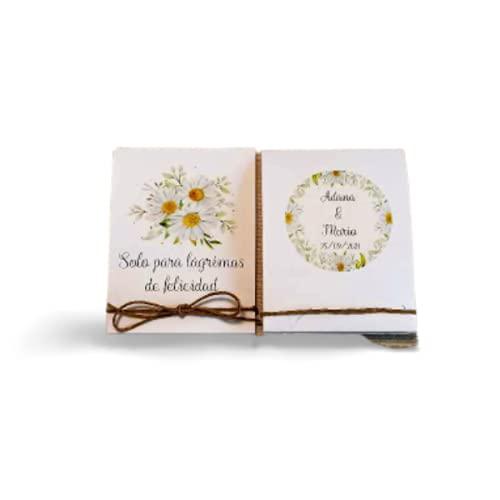 Solo lágrimas de felicidad, Lágrimas de felicidad boda, pañuelos para boda. Incluye pañuelo, se envían montados. 50 unidades