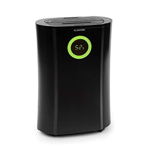 Klarstein DryFy Pro Connect Luftentfeuchter Dehumidifier Kompressionsluftentfeuchter, integrierter Luftreiniger mit Filter, Ionisator und UV-Funktion, WiFi-Schnittstelle, 370W Leistung, schwarz