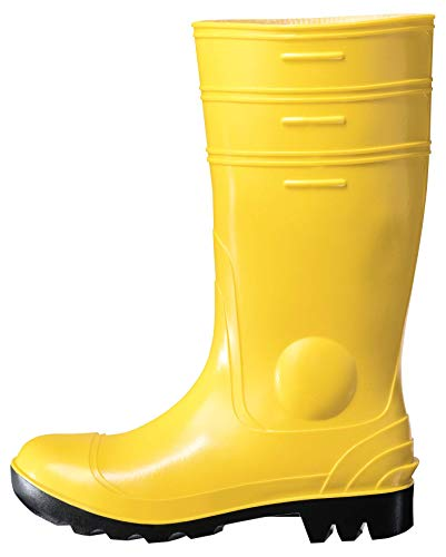 Uvex Nora Gummistiefel 94756 - Sicherheitsstiefel S5 SRC - Gelbe Arbeitsstiefel fur Damen Herren - Wasserdichte, Hohe Arbeitsschuhe mit Stahlkappe - Gelb - Grosse 39