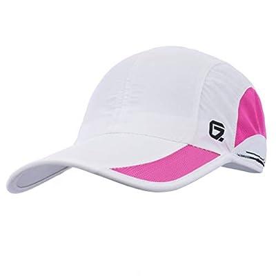 GADIEMKENSD Quick Dry Sports Hat Lightweight Breathable Soft Outdoor Run Cap Baseball Cap (Classic Upgrade, White)