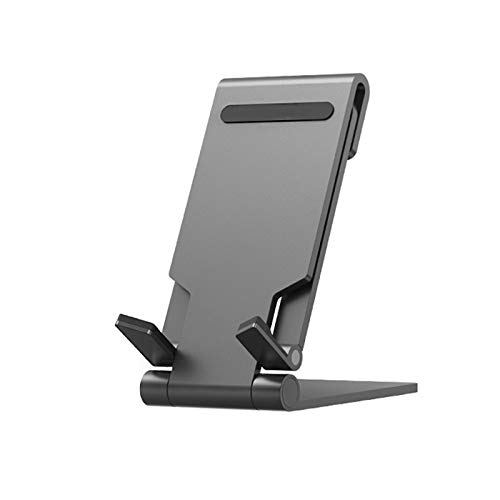 Yzbtj Newest Foldable Phone Stand,Tablet Holder Support Multi-Angle Adjust Portable Phone Lazy Holder for iPhone Samsung Ipad So On,Black