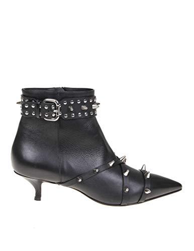 Valentino Luxury Fashion | Red Damen RQ2S0C01KDD0NO Schwarz Leder Stiefeletten | Frühling Sommer 20
