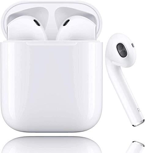 Auricolare senza fili Bluetooth 5.0, microfono e scatola di ricarica integrati, riduzione del rumore stereo 3D HD, adatto per cuffie Apple/Android/iPhone/Samsung/Huawei