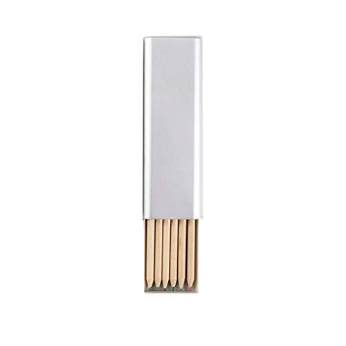 Portátil Simple Caja de lápiz de los Efectos de Escritorio del Estudiante de Hierro Creative Box Metal de Aluminio Multifuncional Estudiantes universitarios de lápiz del Bolso (Color : White)