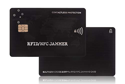 RFID Blocking card | 1st EVER DUAL CHIP DESIGN! | A credit card protector made to stop sneaky thief's who can pick your pocket without touching you | 13.56mhz-125khz | Southern Cross - RFID/NFC JAMMER