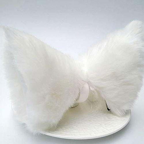 Lady Fluffy Cat Fox Tail Cosplay Halloween Costume Accessories with Elastic Band