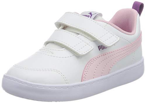 Puma Unisex Baby COURTFLEX V2 V INF Sneaker, Weiß(Puma Whitepink Lady), 26 EU