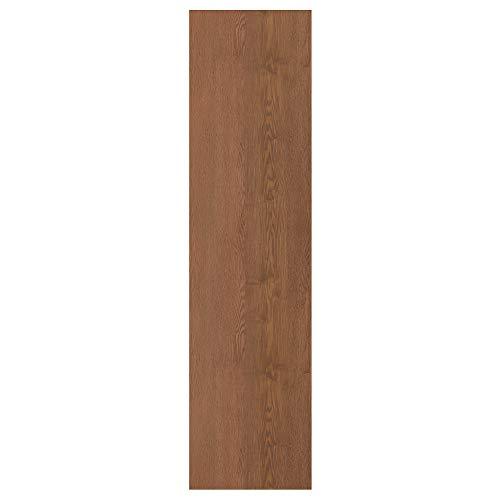 Puerta FORSAND 50x195 efecto ceniza teñido marrón