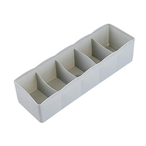 Persiverney Organizadores de cajones, Caja Duradera de plástico Organizador de 5 Celdas...