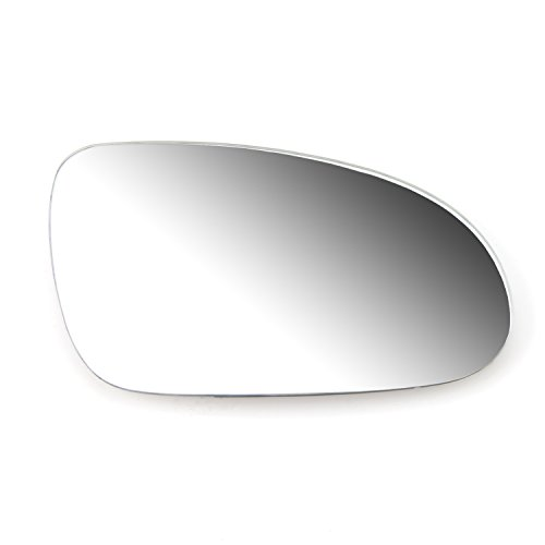 Flat, White Ampper 30 Cm Clip on Rounded Wide Angle Rear View Mirror for Car Blind Spot Reduce Car Flat Interior Rearview Mirror