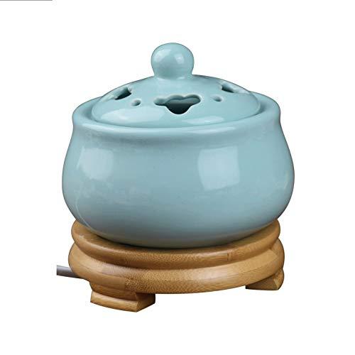 Estufa de aromaterapia individual Control de temperatura de sincronización del horno de aromaterapia de cerámica Quemador de incienso electrónico para aceite esencial - Lámpara de aroma - Astillas de