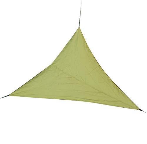 Toldo de tela Oxford con bloque UV para jardín, piscina al aire libre, patio, bloque UV, 165 cm, toldo triangular, color verde militar
