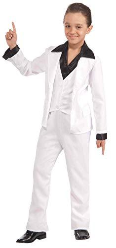 Forum Novelties 70's Disco Fever White Suit Child Costume Medium
