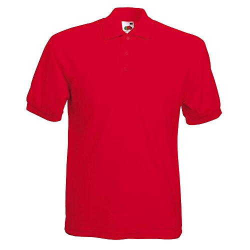 Fruit of the Loom - Piqué Poloshirt Mischgewebe '65/35 Polo' / Red, 3XL