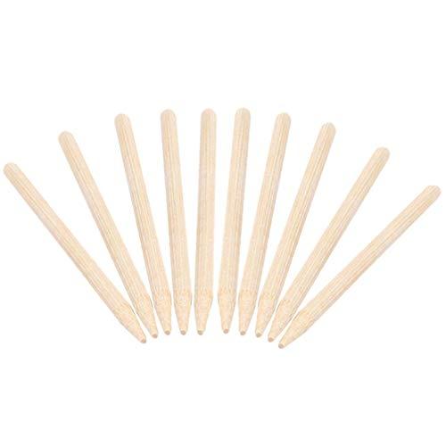 Artibetter 30pcs herramientas de lápiz de madera de alta resistencia para scratch art lápiz de madera stick art sticks