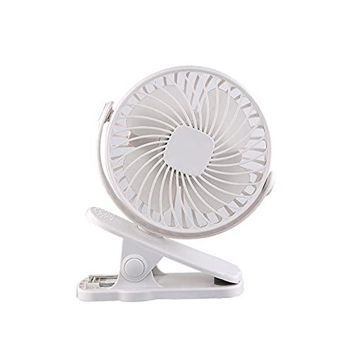 JKLJL Ventilador USB,Mini Ventilador,Ventilador de pie de Clip,Adecuado para Dormitorio,Oficina,Sala de Estar,etc,Rosa,Negro,Blanco