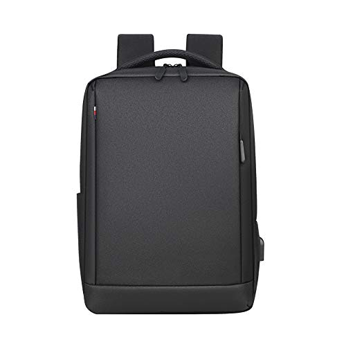 Laptop Backpack, Anti-Theft Business Travel Work Laptop Bag Computer Rucksack with USB Charging Port, Slim Water Resistant College High School Bag Gifts for Men Women Fits 15.6 Inch Laptop-Black