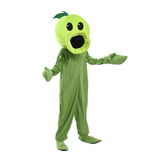Plant and Zombie Pea Archer Mascot Costume Kids Cosplay Costume Family Costume Fashion Trend Entertainment Costume