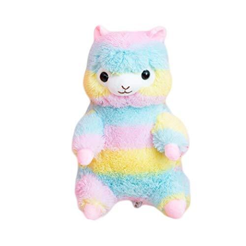 Netter 3D Plüsch-Tierrucksack Regenbogen-Alpaka-Lama-Bag Stofftier Puppe Kleinkind Rucksack Kinder Schulranzen