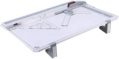 A3 Drawing Board Table, Measuring System Lightweight Ergonomic Graphic Architectural Sketch Board with Clear Rule Parallel Motion and Angle Adjustable Measuring System