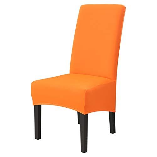 zxxin-Fundas Sillas Cubiertas de Silla de Asiento elásticas de Color sólido de 1 UNID, Stretch High King Back SlightCovers, para cenar Bodas Banquete Hotel, (Color : Candy Orange)